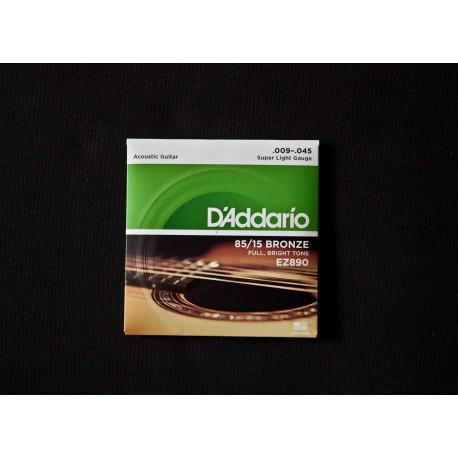 Set Corde Chit. acustica DADDARIO EZ890 Bronze 009 - 045