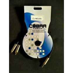 CAVO audio COBRA n.2 RCA - n.1 MINI JACK 3,5 - 1,5 mt
