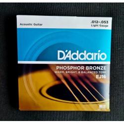 Set Corde Chitarra acustica DADDARIO Ph. Bronze 012 - 053