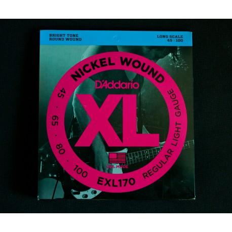 Set Corde Basso DADDARIO EXL170 - 045/100 Nickel Wound